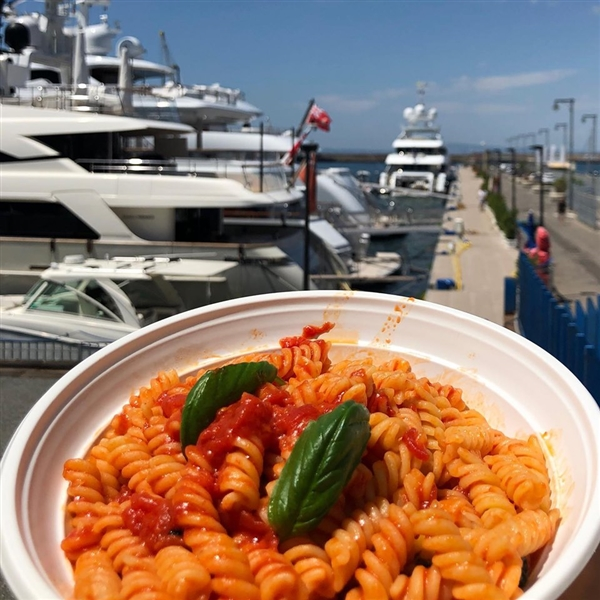 Real time on sea...Pasta Leonessa