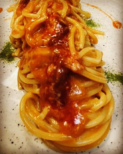Spaghettone Leonessa ai ricci - chef Antonio Grasso di La Frescheria