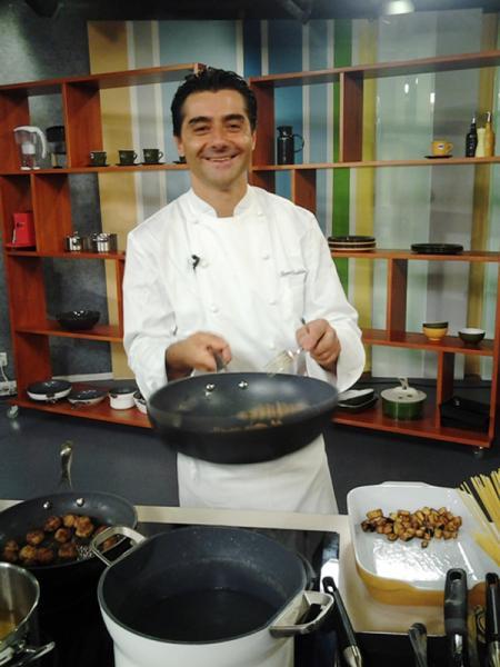 Pasta Leonessa al Salone del Gusto 2012 con lo chef Daddio ai fornelli il 28 Ottobre