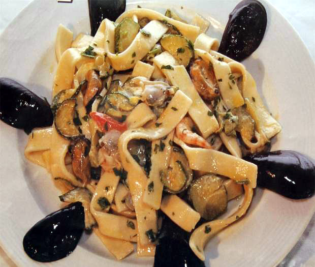 Scialatielli with seafood and zucchine