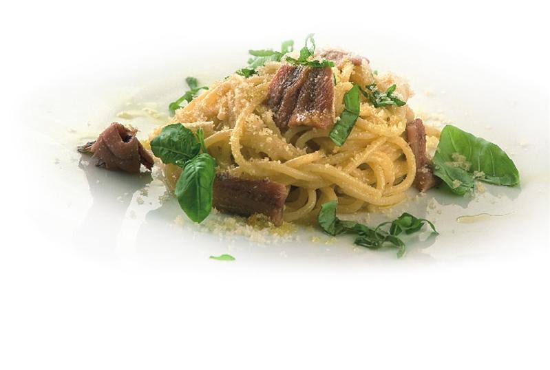 Spaghettoni con le briciole