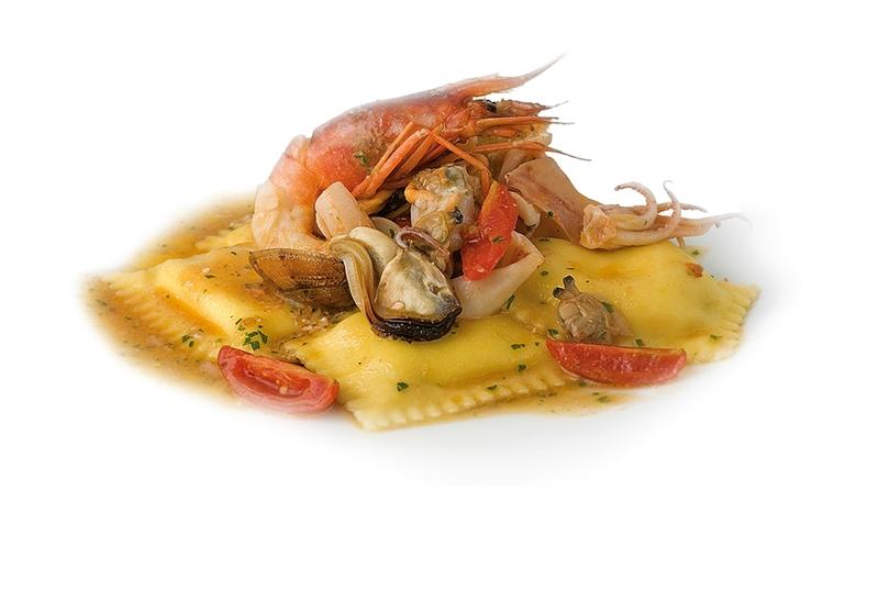 Quadrotti Pasta with Seafood