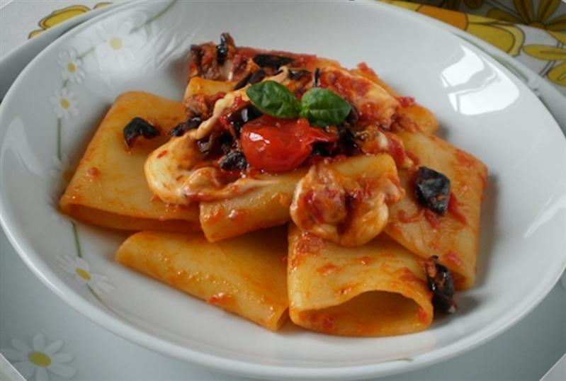 Eggplant and mozzarella pasta