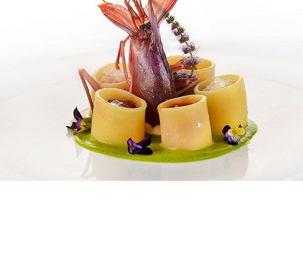 Manicotti con ricotta, melanzane e caviale di Lumaca Madonita