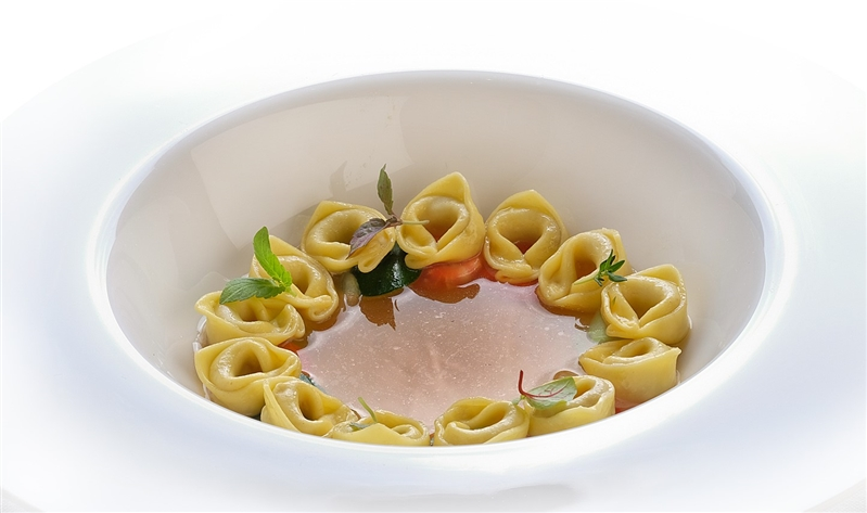 Tortellini in Capon broth