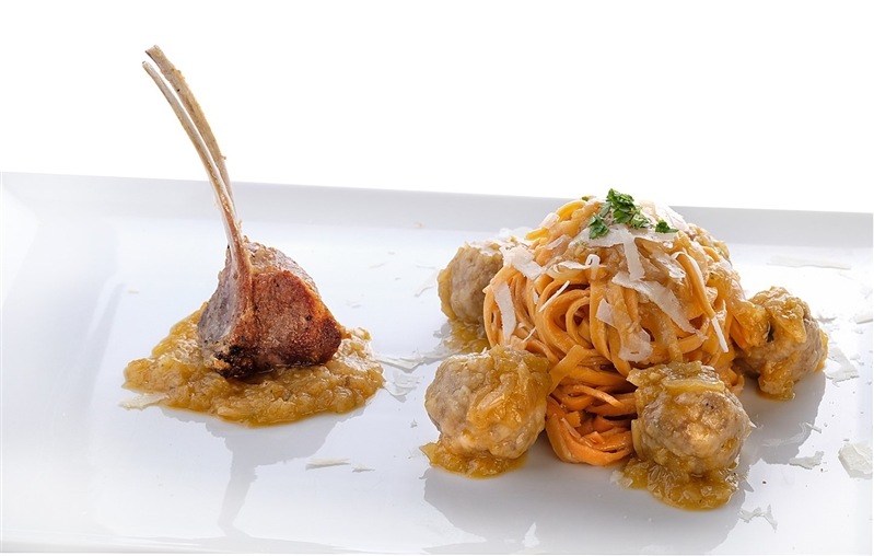 Spicy Tagliatelle with Lamb Genovese