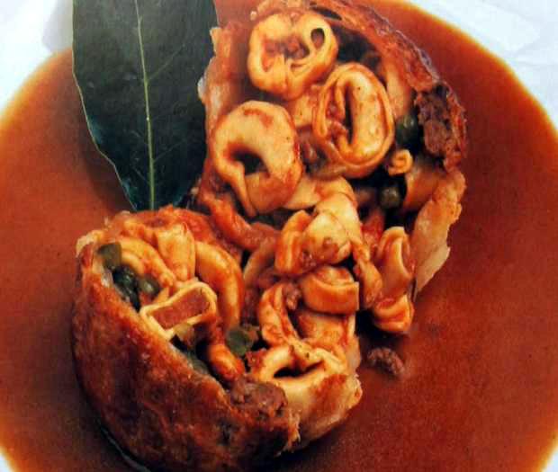 Tortellini in crosta